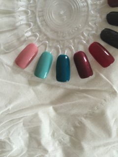 5 new gel polish colours