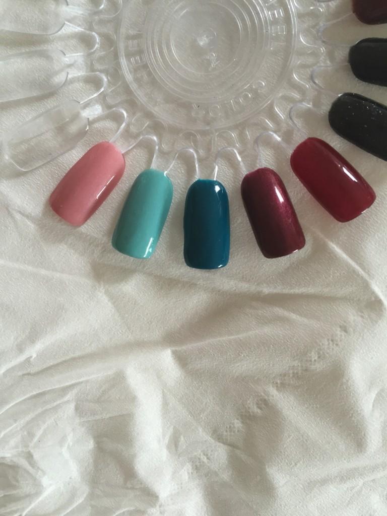 5 new gel polish colours
